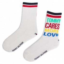 Tommy Hilfiger vaikiškos kojinės 2 poros baltos 31-34